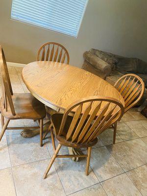 Solid Oak Kitchen Table for Sale in Clovis, CA