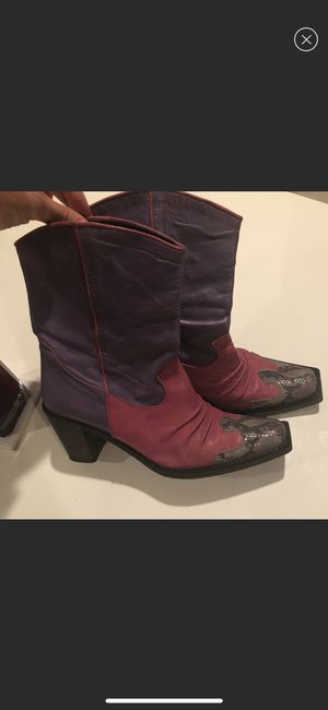 Boots made in Italy real leather for Sale in Tampa, FL