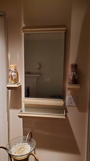 Beautiful Wall Mirror and Candle Stands for Sale in Bedford Heights, OH