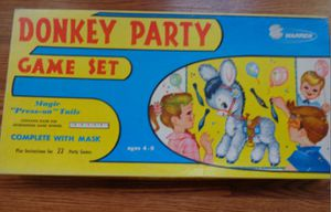 Vintage Donkey Party Game pin the tale on the donkey for Sale in Plymouth Meeting, PA