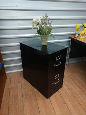 2 Drawer Cabinet, File Cabinet, Black Cabinet, Quality USA for Sale in Plano, TX
