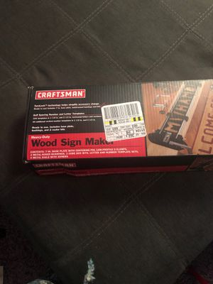 Craftsman Wood Sign Maker (heavy-Duty for Sale in Worcester, MA