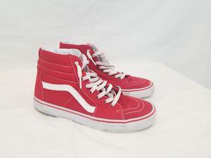 Vans Authentic Men Sneakers Red High Tops Size 10 Sk8 Hi-Top for Sale in Norcross, GA