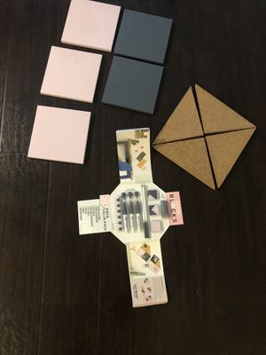 Mini magnetic board and cork board w/chalk, dry erase markets and magnets for Sale in Los Angeles, CA