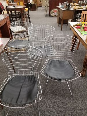 Metal steel mesh dining room chairs modern for Sale in Vancouver, WA