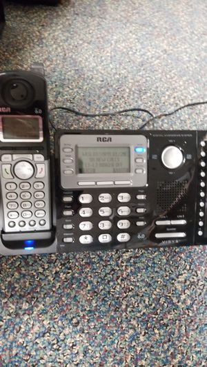 Rca Two line cordless phone with dual line answering machine for Sale in Arlington Heights, IL