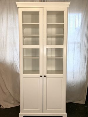 White Bookcase with Doors for Sale in New York, NY