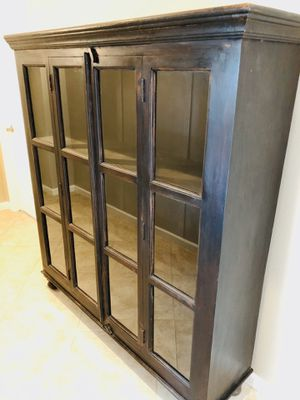 Cabinet with glass panes for Sale in Scottsdale, AZ