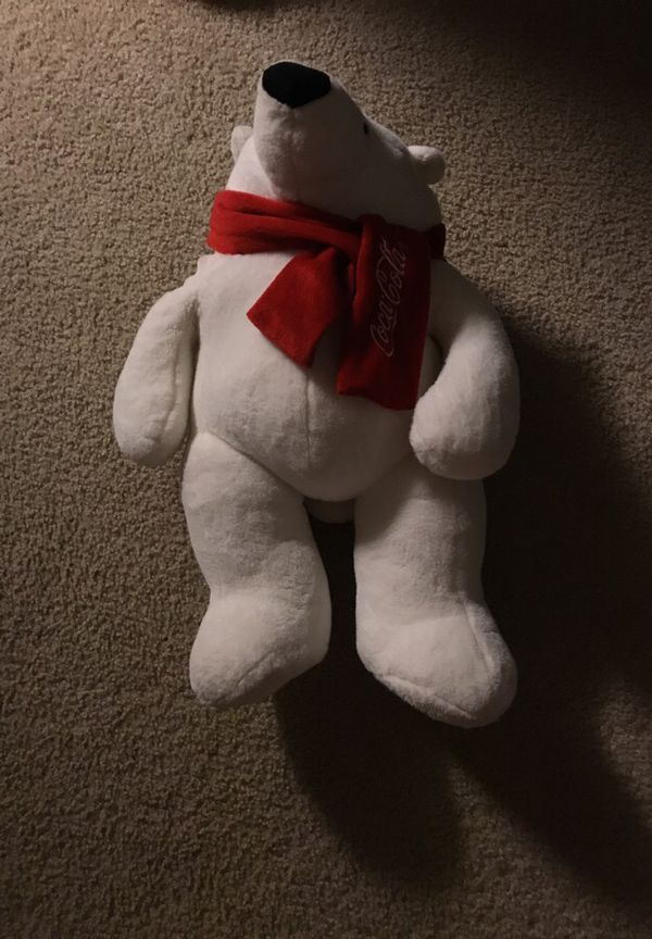Stuffed Coca Cola bear