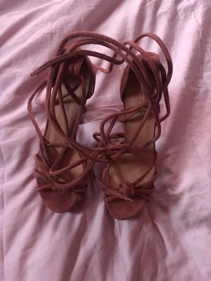 Pink lace up heels for Sale in Nashville, TN