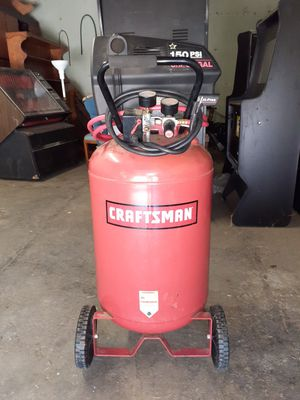 Craftsman set with air compressor with hose extension, impact drill and torque wrench for Sale in Nashville, TN