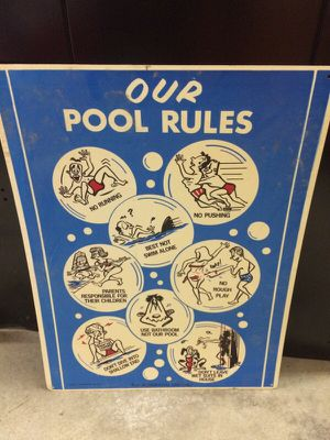 Pool rules sign for Sale in North Reading, MA