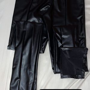 Black Leather Pants Size 6 Never Worn for Sale in Clinton, MD