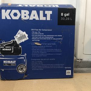 KOBALT 8 Gal. Oil Free Air Compressor 150 Psi for Sale in North Las Vegas, NV
