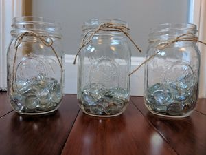 Mason Jars with Jewels Decoration for Sale in Chelmsford, MA