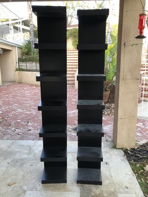 2 black shelves for Sale in Los Angeles, CA