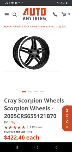 4 cray scorpio rims 20in. With toyo proxy tires size listed for Sale in Edmonds, WA