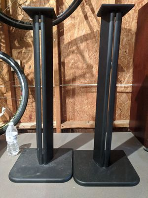 Speaker stands black 30in tall for Sale in Wake Forest, NC