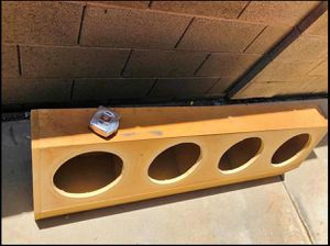 $60 4 10 inch sub speaker box / check measurements in the pics for Sale in Sanger, CA