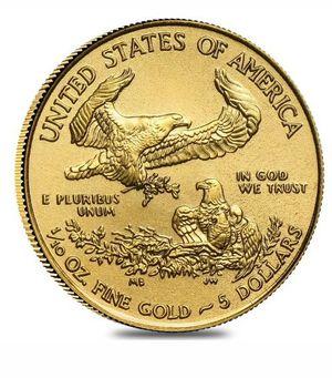 1/10 oz Gold American Eagle $5 Coin for Sale in Prattville, AL