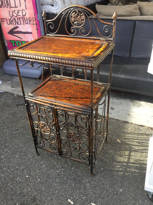 Ornate Metal Lift Top Wine Rack - Delivery Available for Sale in Midland, MI