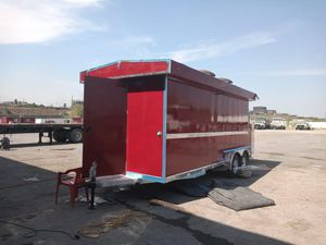 Food Trailer red 7x16 ft available for Sale in Dallas, TX