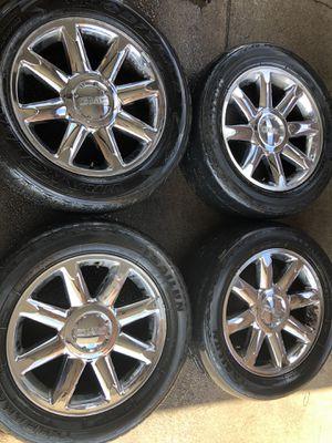 "20"" DENALI GMC YUKON SIERRA 4WD AWD 6 LUG OEM GM WHEELS TIRES RIMS SILVERADO AVALANCHE TAHOE SUBURBAN for Sale in Marietta, GA"