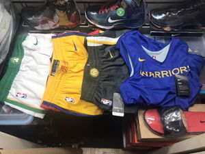 NBA Gear (Celtics and Warriors) Shorts Jersey for Sale in Madera, CA