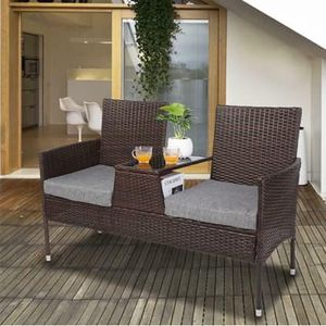 NEW 3 Piece Patio Furniture Chair Conversation Set Sofa and Coffee Table for Sale in Las Vegas, NV