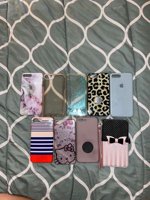 iPhone 8 plus cases in great condition!! for Sale in Riverside, CA