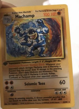 Machamp limited edition pokemon card 1999 for Sale in Long Beach, CA