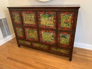 one of a kind Antique Handpainted Asian Cabinet for Sale in Chicago, IL
