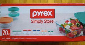 Pyrex 20PC Glass Storage set for Sale in Franklin Township, NJ