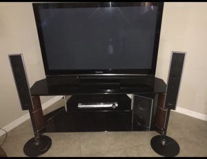 Panasonic plasma 50in TV with stand and sony surround system for Sale in Windermere, FL