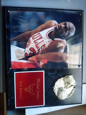 Michael Jordan signed plaque for Sale in Potomac, MD