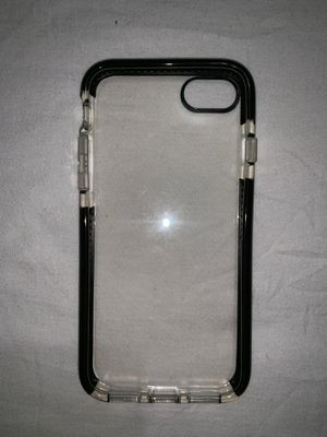 Clear Partial Black Bordered iPhone 7/8 Case for Sale in Chicago, IL