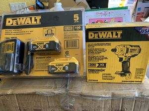 Brand new dewalt brushless xr mid torque 1/2 impact wrench with 2- 5ah batteries and charger plus tool bag for Sale in Plant City, FL