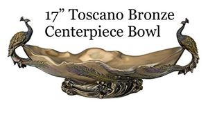 Toscano Decorative Twin Peacocks Centerpiece for Sale in West Palm Beach, FL
