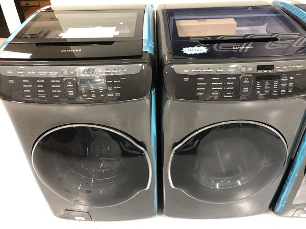 NEW Washer and Dryer FLEX XL Electric Steam Black Stainless Steel 😀 Select Appliance
