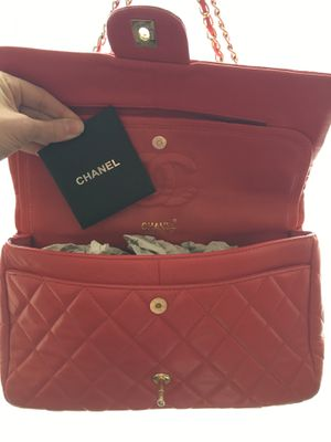 Chanel Classic Double Flap; Quilted Jumbo Red for Sale in Mercer Island, WA