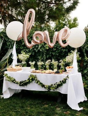 rose gold Love balloon wedding engagement for Sale in Lake Stevens, WA