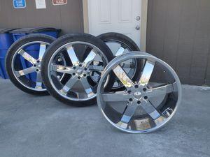 "24"" U2 Chrome Rims & Nankang Tires for Sale in Orland, CA"