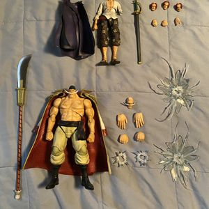 Variable Action Heroes One Piece White Beard Shanks Action Figure Lot Bandai Megahouse Figuarts Mafex Figma for Sale in Anaheim, CA