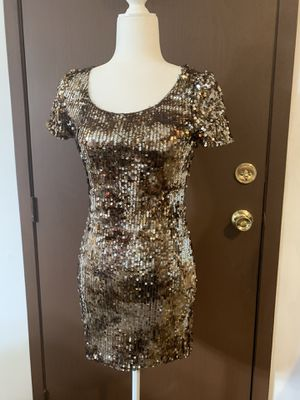Forever 21 brown sequined mini dress small for Sale in Indianapolis, IN