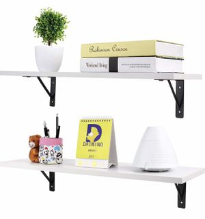 HOMFA Floating Shelves Wall Mounted 2 Display Ledge Shelf with Bracket for Sale in Artesia, CA