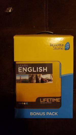 Rosetta Stone (English) for Sale in Berwyn, IL