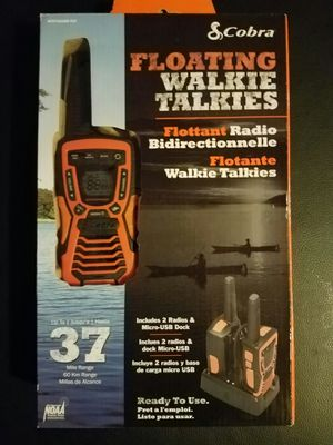 Cobra floating walkie talkies for Sale in Baxter, MN