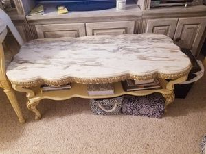Vintage Marble-top coffee table for Sale in North Miami Beach, FL