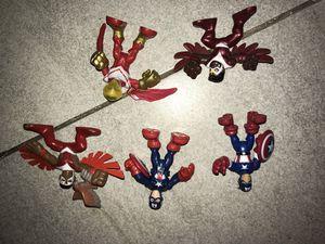 Marvel super hero squads imaginext captain america lot for Sale in Chandler, AZ