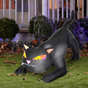 Black Cat Outdoor Airblown Halloween Decoration for Sale in Warren, OH